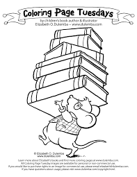 Library Coloring Page 17 Dulemba Tuesday