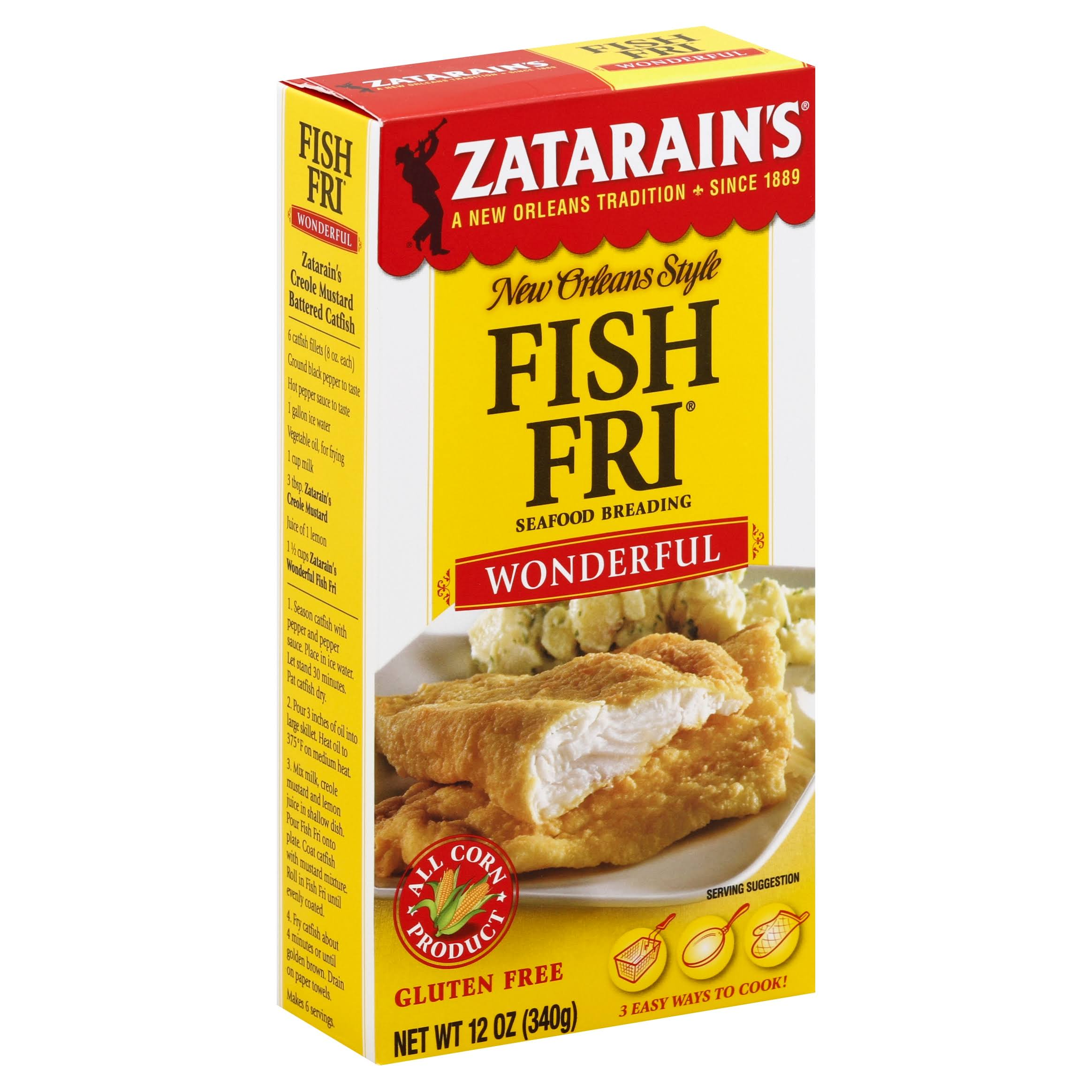 Zatarain's New Orleans Style Fish Fri Wonderful Seafood Breading - 340g