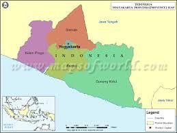 Yogyakarta Map Of Province Indonesia