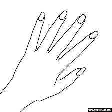 Finger clipart fingernail 8