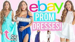 trying on 5 ebay prom dresses cheap dresses i bought online