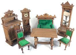 puppenstubenmöbel gründerzeit wohnzimmer holz um 1900