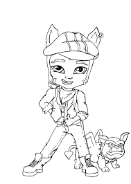 Clawd Wolf Little Boy Monster High Coloring Page Fishing Pages Blue