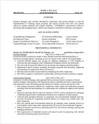 Hvac Resume Template Free Samples Examples Format Download Templates Downloadable
