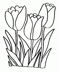 Coloring Page Of Flowers