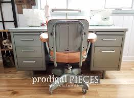 Vintage Industrial Office Chair Reupholstered - Prodigal Pieces