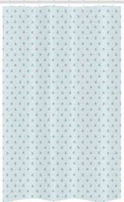 abakuhaus duschvorhang badezimmer deko set aus stoff mit haken breite 120 cm höhe 180 cm pastell vergessen sie mich nicht blumen retro