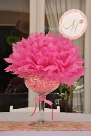 A Fun And Flirty Party Centerpiece Idea For Parties Drop Tissue Pouf Into