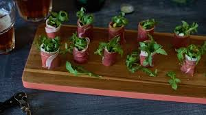 berry canapes parma ham goats cheese and rocket canapés recipe berry