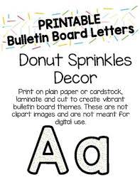 Donut Sprinkles Bulletin Board Letters Printable by Flynn s Finns