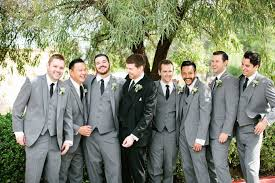 Grey Suits For Wedding Party