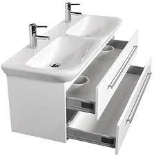 badezimmer doppel waschtisch mit unterschrank weiß hochglanz
