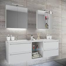 vcm doppel waschplatz waschtisch waschbecken unterschrank badinos xl b 155cm spiegelschrank weiß