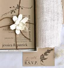 Burlap Wedding Invitations Rustic Boxed Kraft Paper