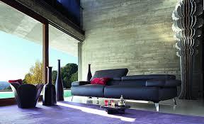 100 Roche Bobois Sofa Bed GRAPHITE Leather Sofa Design Philippe Bouix
