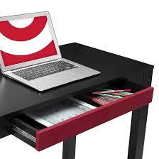 delilah parsons desk with drawer black red ameriwood home target