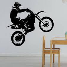 details zu motocross wand aufkleber dirt motorrad jungen schlafzimmer dekor mb18