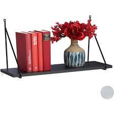 wandregal für wohnzimmer flur modernes design wandboard für bücher deko hbt 30 x 60 x 22 cm schwarz