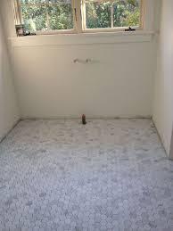 Faux Marble Hexagon Floor Tile by Best 25 Hex Tile Ideas On Pinterest Subway Tile Bathrooms