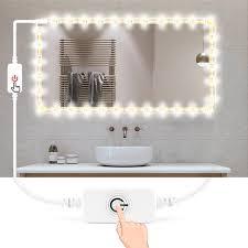 spiegel bad led streifen licht wasserdicht usb 5v tv hintergrundbeleuchtung ribbon led band licht touch dimmer weiß warm weiß