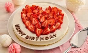 strawberry cheesecake zum geburtstag