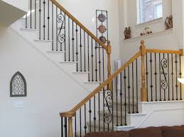Stairs. Astonishing Iron Railings For Stairs: Astounding-iron ... Iron Stair Parts Wrought Balusters Handrails Newels And Stairs Amusing Metal Railing Parts Extordarymetalrailing Banister Baluster Railing Adorable Modern Railings To Inspire Your Own Shop Kits At Lowescom Stainless Steel Our 1970s House Makeover Part 6 The Hardwood Entryway Copper Home Depot Model Staircase Metal Spindles For High Quality Neauiccom 24 Best Craftsman Style Remodeling Ideas Images On This Deck Stair Was Made Using Great Skill Modular