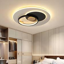 moderne led rund deckenleuchte mit fernbedienung schwarz grau ring kronleuchter beleuchtung mit acryl lenschirm skandinavische dimmbar holz