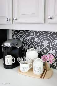 Kitchen Makeover Reveal Create A Cheerful Start To Your Morning With An Organized Coffee Station I Found These Darling Containers At HomeGoods