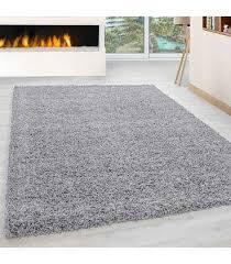 hochflor langflor wohnzimmer shaggy teppich florhöhe 3cm unifarbe hellgrau