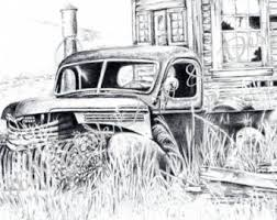 46 Chevy Pickup 1946 Truck Print Old