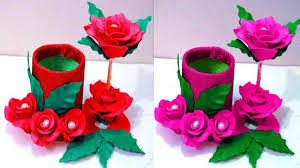 How To Make Flower Vase At Home