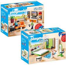 playmobil modernes wohnhaus möbelset 9267 wohnzimmer 9271