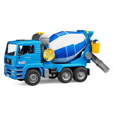 Bruder Toys MAN Cement Mixer With Realistic Turning Mixing Barrel ...