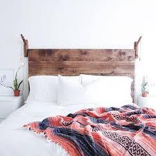 White Wooden Headboard Double by Best 25 Diy Headboard Wood Ideas On Pinterest Reclaimed Wood
