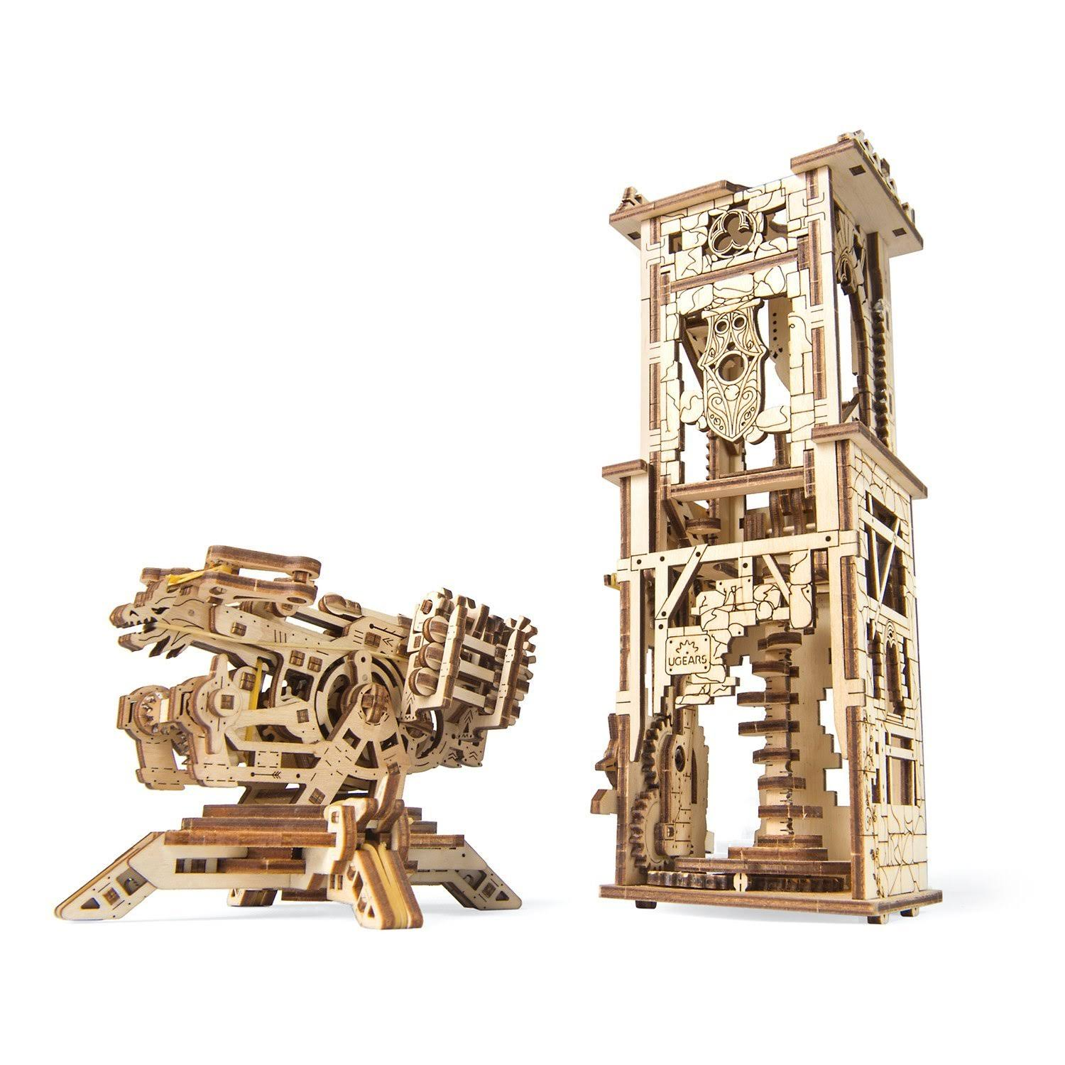 UGEARS Model Archballista-Tower Mechanical Wooden Model Kit 70048