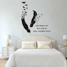 federn drehen in vögel wand aufkleber kunst wandmalereien wohnkultur wohnzimmer schlafzimmer dekoration leben beginnt wand abziehbilder