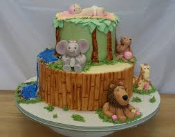 Baby Shower Jungle Cake CakeCentralcom