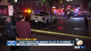 100 Truck Stop San Diego Police Marine Stabbed To Death In Downtown