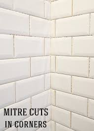 installing beveled subway tile