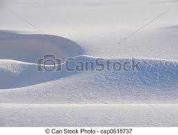 Snow Drift Fresh In Open Field