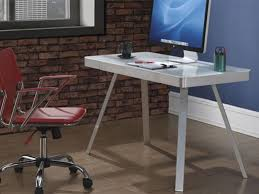 Tempered Glass Computer Desk by Tempered Glass Tech Desk Bailey U0027s Furniture