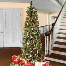 75 Slim Flocked Christmas Tree by Slim Christmas Trees Take Back Your Holiday Room Space In Style