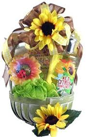 Sunflower Bath Gift Set by Blueberry U0026 Sunflower Spa Basket Sunflower Spa Spa Basket And