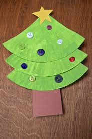 Kids Christmas Craft Paper Plate Tree And Wreath