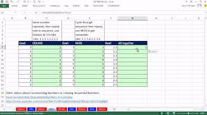 Excel Ceiling Function In Java by Excel Magic Trick 991 Formula To Create Sequential Numbers 1 1
