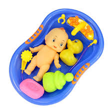 1Pc Baby Swimming Games Shower Water Toys With Rattles Inflatable