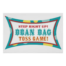 Bean Bag Toss Booth Sign Carnival Circus Birthday Poster Clipart