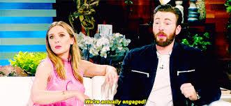 Chris Evans And Elizabeth Olsen Gif