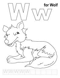 Wolf Free Alphabet Coloring Pages Animal Letters Abc Cute