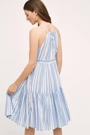 eva franco daylily stripe dress in blue lyst
